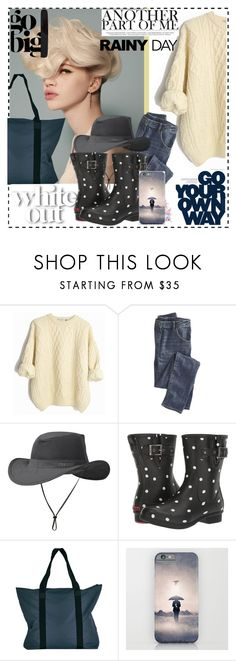 """Rainy day in my way"" by enwa ❤ liked on Polyvore featuring Wrap, Outdoor Research, Chooka, Rains and rainyday"