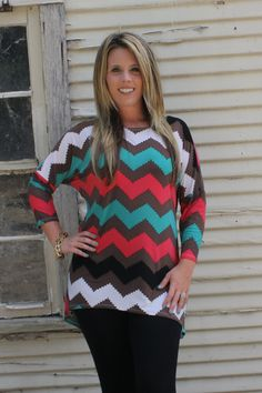 The Texas Cowgirl - Chevron Turquoise Brown Dolman Sleeve Shirt,(http://www.thetexascowgirl.com/chevron-turquoise-brown-dolman-sleeve-shirt/) Small - XL