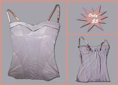 Zipper Embellished Corset  Size: 10  Price: $5  #fashion #sale #shop #buy #ladies #followme #cheap #apparel #corset