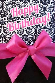 Happy Birthday . black paisley w pink bow/ribbon . custom edit by lechezz