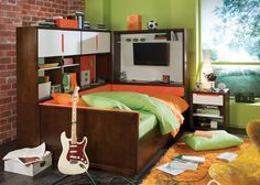 super cool teen boys room.