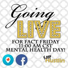 Hey everyone it's #factfriday and I'll be going live at 11CST to talk about Mental Health Days! Hope you can join in the discussion!!! #momlife #keephustlin #live #ssgu #oneday #youcan  I will be live on Instagram @momhustle and on Facebook http://ift.tt/2bPuZyv  I hope you can hop in and join in the conversation and hear my quick tips about mental health day. Feel free to share your opinion!!!  . #motivation #betterhealth #lifestyle #exercise #focus #meditation #selfdevelopment #success…