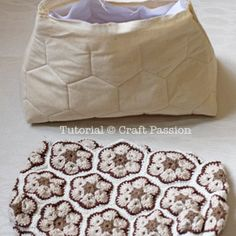 African Flower Crochet Purse – Part 2 lining and crochet purse