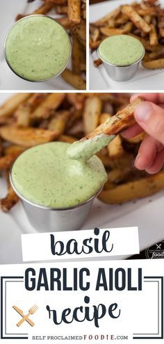 Fresh Basil Recipes, Herb Recipes, Sauce Recipes, Cooking Recipes, Fresh Dill Dip Recipe, Burger Sauces Recipe, Garlic Recipes, Cooking Tips, Garlic Aioli Recipe