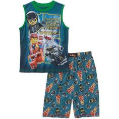 Boys 2pc Lego Movie Pajamas Shorts Set Brand New with Tags!! Size 8 Kids BNWT #Lego #PajamaSets