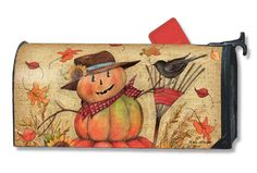 Magnet Works Mailwraps Mailbox Cover - Fall Friends Design Magnetic Mailbox Cove at GardenHouseFlags