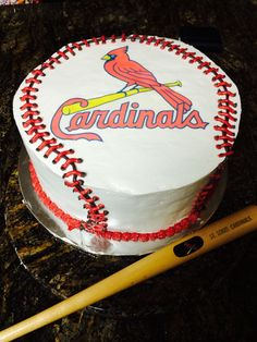 Simple St Louis Cardinals baseball cake For the Love of Baking