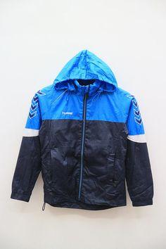17bf2150b65 Vintage HUMMEL Outdoor Sportswear Blue Hoodies Windbreaker Size 4S