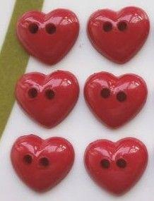 cute red heart button