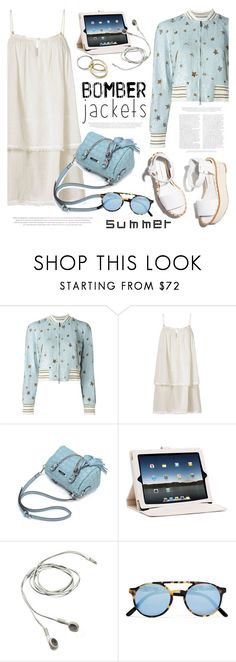 """""""Light Topping: Summer Bomber Jackets"""" by helenevlacho ❤ liked on Polyvore featuring Valentino, Heidi Klein, Paloma Barceló, MICHAEL Michael Kors, Sheriff&Cherry, contestentry and bomberjackets"""