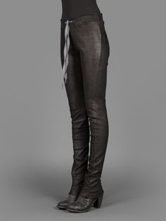 ISAAC SELLAM LEATHER STRETCH LEGGING WITH DRAWSTRING AT WAIST