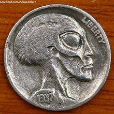 false liberty : Money Alien Coin 1937!