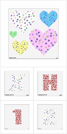 Reusable Love Themed wall decals to put up temporary decorations for special events. A variety of designs and images on letters, numbers and shapes, too! #Decals4you #Gravityx9 #Zazzle -