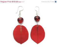 ON SALE Dried Bougainvillea earrings Petal by AmazoniaAccessories, €8.92
