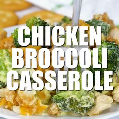 Chicken Broccoli Casserole - A twist on my Mom's classic recipe! Enjoy as a comfort food meal or a holiday side dish. Chicken Broccoli Casserole - A twist on my Mom's classic recipe! Enjoy as a comfort food meal or a holiday side dish. Easy Broccoli Casserole, Casserole Dishes, Brocoli Casserole Recipes, Chicken Casserole, Broccoli Recipes, Healthy Chicken Recipes, Healthy Dinner Recipes, Cooking Recipes, Casseroles Healthy