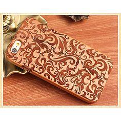 decoratief patroon achterkant massief hout beschermend omhulsel voor de iPhone 6 – EUR € 12.15