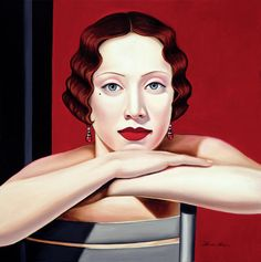 Tamara de Lempicka I read a novel about her. Can't remember what it was called...