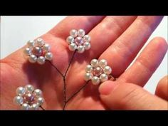 {THERESA} Daisy Spray Part2of2: DIY Bridal Beaded Hair Comb - YouTube