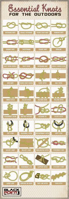 Paracord and Knots for Camping, Bushcraft, Survival Wilderness Survival, Camping Survival, Outdoor Survival, Survival Gear, Survival Prepping, Survival Knots, Bushcraft Camping, Survival Weapons, Survival Hacks