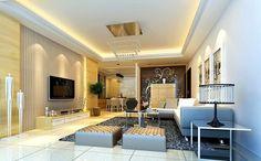 Model Plafon Ruang Tamu Sederhana Elegan