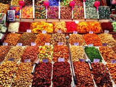 Dried Fruits and Nuts, Boqueria Market puzzle in Food & Bakery jigsaw puzzles on TheJigsawPuzzles.com. Play full screen, enjoy Puzzle of the Day and thousands more.