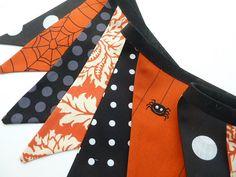 HALLOWEEN bunting/banner in Black and Orange by BettyandBarclay, $28.00