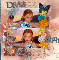 """""""Divas Are Not Made, They Are Born"""" by Too Scrappy at scrapbook.com.  This title is too cute!  She said that she made the page """"with a mish-mash of stuff"""" laying around her craft room.  Aren't those pages the best?!?!"""