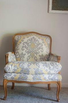 551 east : Chair Week Day 1: Ikat French Arm Chair