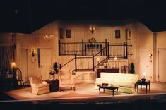 Rumors by Neil Simon Set Design and execution by Martin W. Jennings, LIghting Design by Benjamin Motter.   Flint Central High School Theatre Magnet - Flint, Michigan.  October 2004