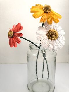 Quilling Paper Coneflowers - The Papery Craftery Paper Quilling Tutorial, Paper Quilling Patterns, Quilling 3d, Quilling Flowers, Quilling Ideas, Arts And Crafts For Teens, Diy And Crafts, Paper Crafts, Crochet Doily Patterns