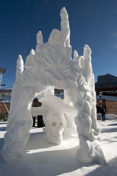 Amazing work by Team Yukon at the Annual International Snow Sculpture competition in Colorado. Snow Sculptures, Sculpture Clay, Frozen Art, Ice Art, Snow Art, Snow And Ice, Art Forms, Winter Wonderland, Carving
