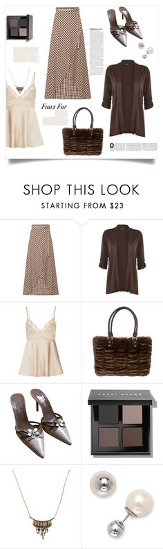 """faux fur"" by im-karla-with-a-k ❤ liked on Polyvore featuring Miguelina, WearAll, La Perla, Love Moschino, Valentino, Bobbi Brown Cosmetics and La Preciosa"