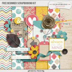 Free Beginner Scrapbook Kit from Digital Scrapbook Ingredients