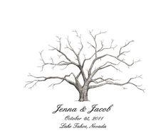 Wedding Guest Book Alternative, Fingerprint tree, New Size