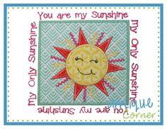 Sunshine Patch Applique Design