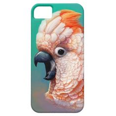 Moluccan Cockatoo realistic painting Barely There iPhone 5/5S Case. #smile #funny #happy #orange #pink #red #illustration #drawing #vintage #ribbon #birdparent #Birdlover #birdportrait #Digitalart #birdmerchandise #crazybirdlady #crazyparrotlady #CacatuadelleMolucche #Molukkenkakadu #Molukkenkaketoe #cockatoopainting #moluccancockatoo #salmoncrestedcockatoo #pinkcockatoo #parrotillustration