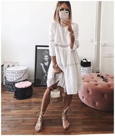 Mode Sommer - Mode Sommer Source by katrin_werner - Fashion Mode, Boho Fashion, Fashion Outfits, Fall Fashion, Fashion Tips, Lace Outfit, Sandals Outfit, Dress Lace, Fashion Clothes
