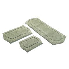 Lavish Home Memory Foam Extra Long Bathmat Assorted Colors - Memory foam bath rug set for bathroom decorating ideas