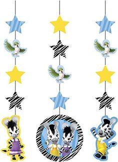 Zou Zebra Party Hanging Dangler Decorations x 3: Amazon.co.uk: Kitchen & Home