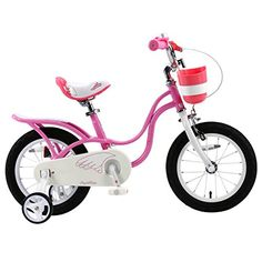 RoyalBaby 2017 newly-developed Little Swan Girl's Bike with basket,14 inch with training wheels, gifts for kids, girls' bicycles -- Details can be found by clicking on the image.