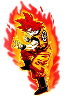 It's artwork like this that makes Super Saiyan God look cool. I like it better when the hair is hotrod red. Looks tougher to me then the Ruby color we usually see. The GI looks cooler too with the golds blending into the oranges, and the black undershirt to offset the Gi, give the hair more flare. The muscles are larger, and keeps him looking like he gained strength, and his shoes having the purple glare strays it away from the average blue. As a closer, the aura is drawn, and I like it…