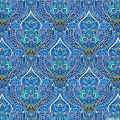 Timeless Treasures | Ornate Packed Paisley Royalty-C4374-Blue