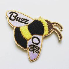 Keep things abuzz with this saucy soft Chenille Bee on your denim jacket, favorite tote, jean pockets, blazer, and back pack. Details: + 3 in by 4 in Buzz Off Bumble Bee Embroidered Patch + Chenille Detailing + Iron On Backing