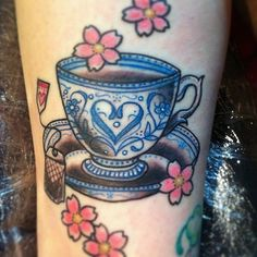 bird and teacup tattoo | Cup of tea http://tattoo-ideas.us/cup-of-tea/ http://tattoo-ideas.us ...