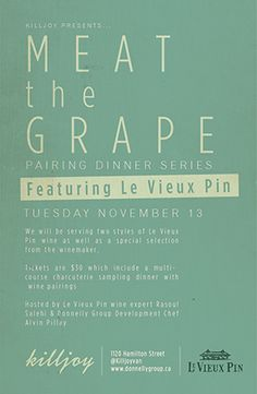Le Vieux Pin tasting event at Killjoy