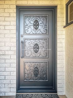 Did you know Universal Iron Doors is a reputable company that manufactures and installs custom high-security iron and steel doors? When you need a secure door customized to your specifications, call Universal Iron Doors! 💡 About this design: Custom Iron Door ☎️️ 877-205-9418 🌐 www.iwantthatdoor.com Wrought Iron Doors, Steel Doors, Design, Wrought Iron Gates