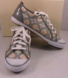 "COACH ""Barrett"" sneakers in Grey Multicolor NIB style# A1060"
