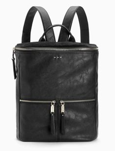 """Carry it all easily with our Ashton Backpack On-trend backpack is big enough for a laptop plus all your daily essentials Top handle Adjustable shoulder straps Top zip closure Two exterior zip pockets Fully lined interior with two pouch pockets and one zip pocket Dimensions: L: 12.25"""" D: 5"""" H: 14"""" Top handle drop: 3.5"""" Shoulder straps: 14"""""""