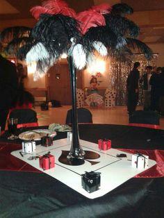 Casino party decorations, casino theme parties, las vegas party, vegas them Casino Party Decorations, Casino Theme Parties, Party Centerpieces, Party Themes, Party Ideas, Las Vegas Party, Vegas Theme, Casino Night Party, Casino Movie