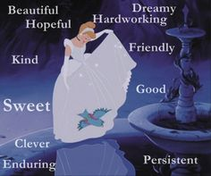 Cinderella Inner beauty: Cinderella lost her father very young. She is a strong willed and independent young woman who is truly beautiful because she doesn't let her anger and sorrow get the better of. Disney Princess Quotes, Disney Princess Cinderella, Disney Nerd, Disney Quotes, Disney Girls, Disney Movies, Disney Pixar, Disney Princesses, Walt Disney